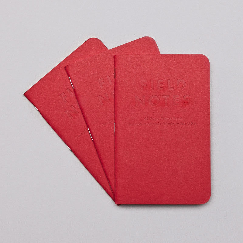 Field Notes Red Blooded Notebooks