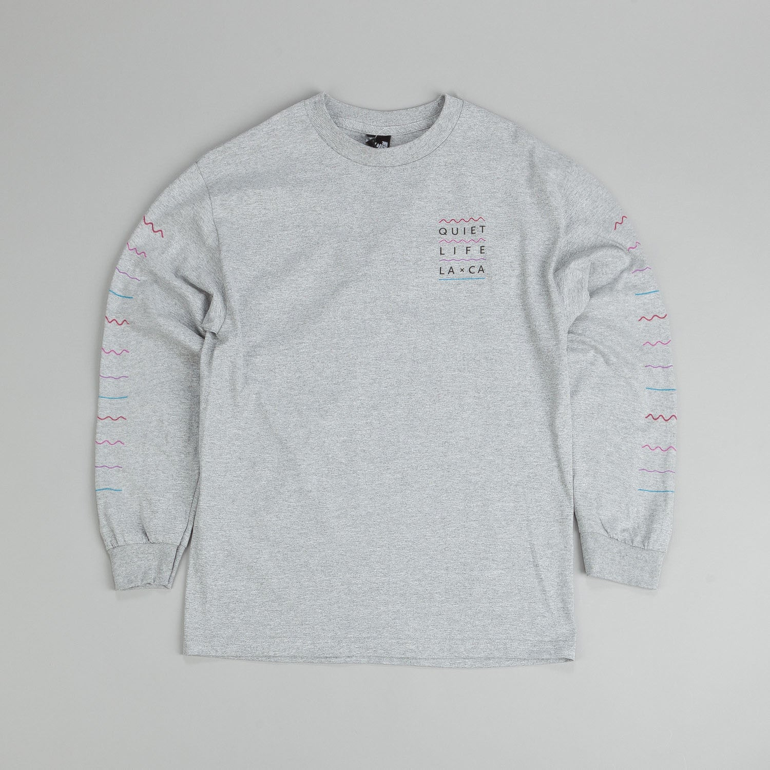 The Quiet Life Waves L/S T Shirt Heather Grey