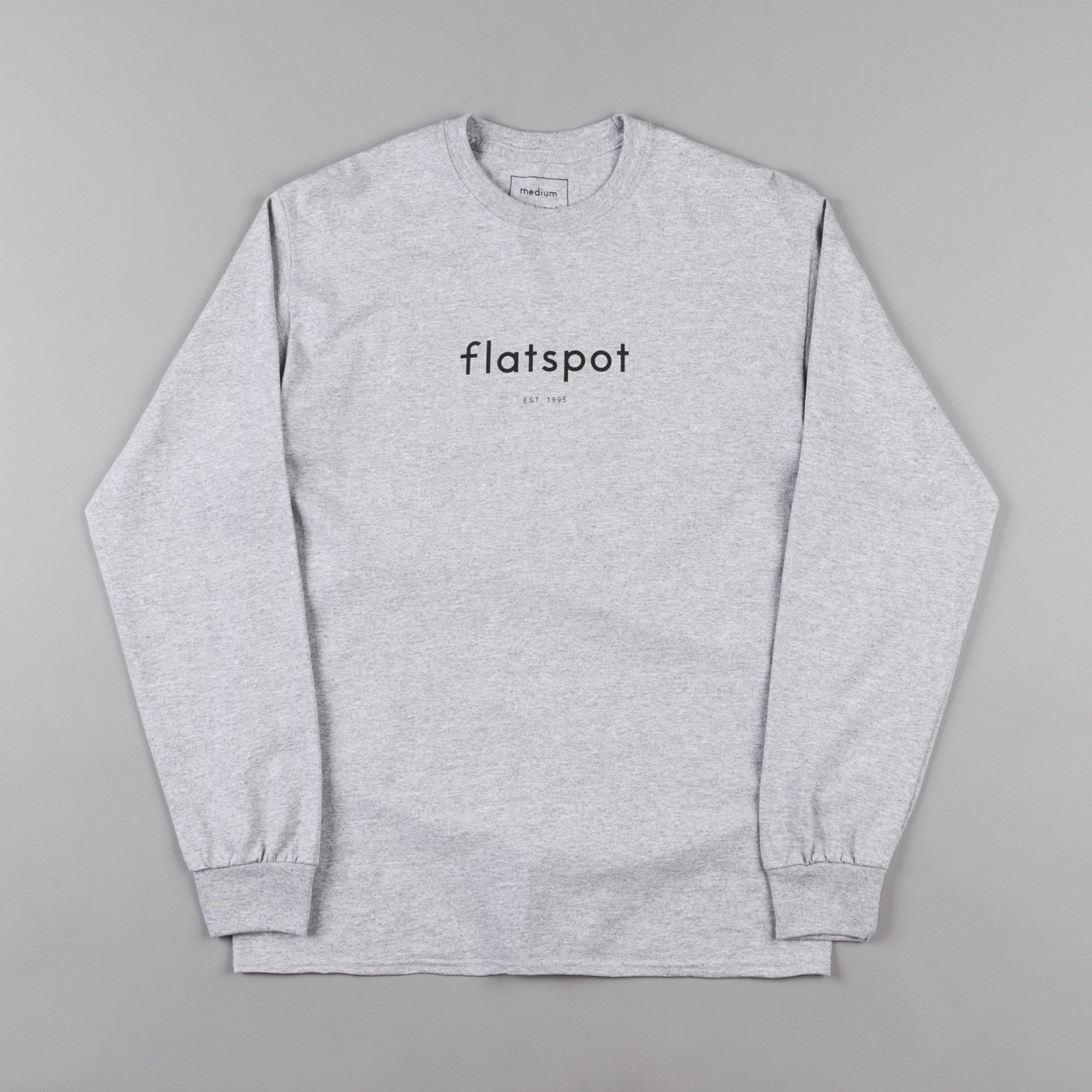 Flatspot 1995 Long Sleeve T-Shirt - Grey