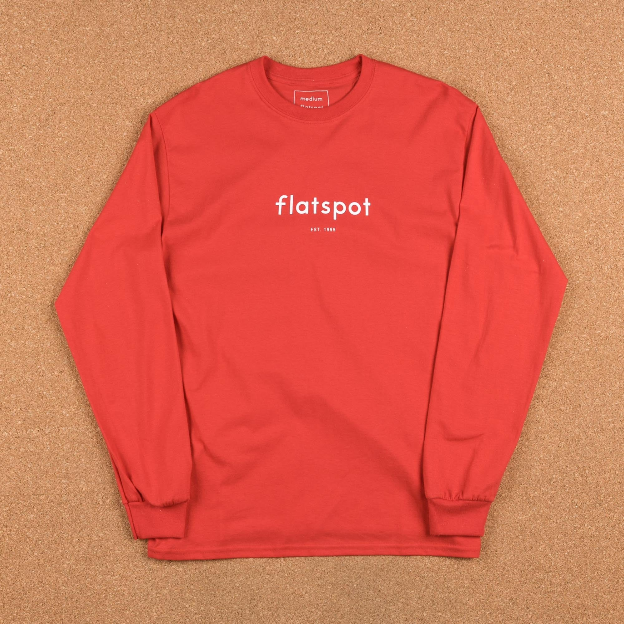 Flatspot 1995 Long Sleeve T-Shirt - Red