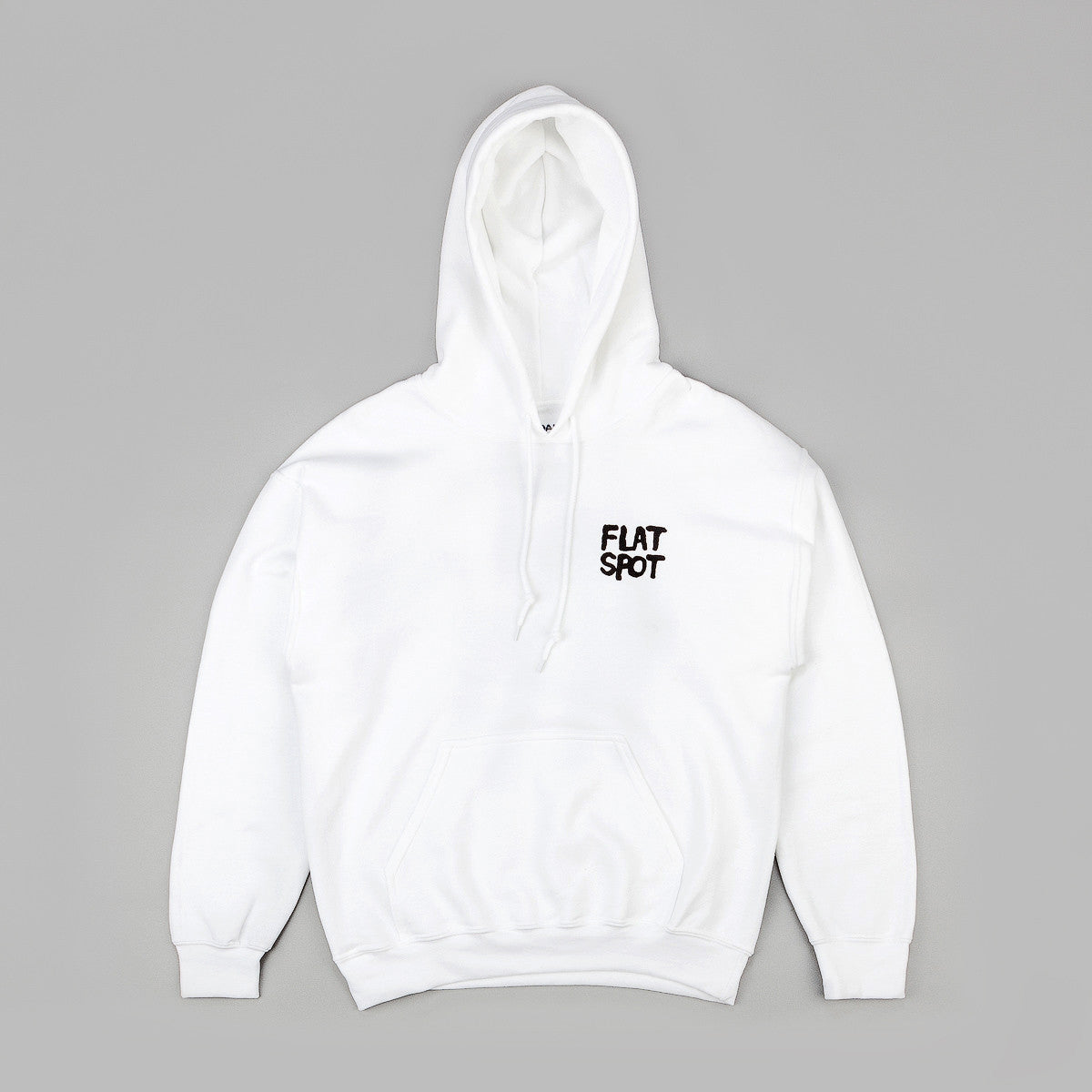 Flatspot Curb Sniffer Hooded Sweatshirt - White / Black