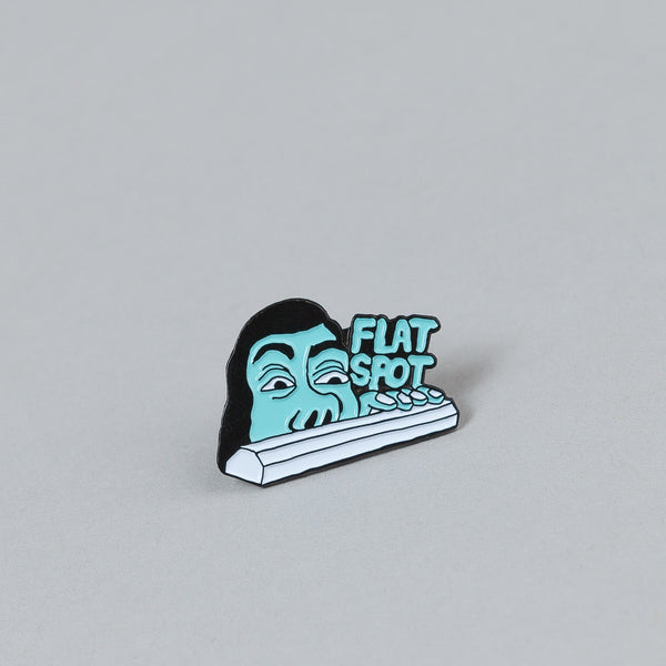 Flatspot Curb Sniffer Pin Badge
