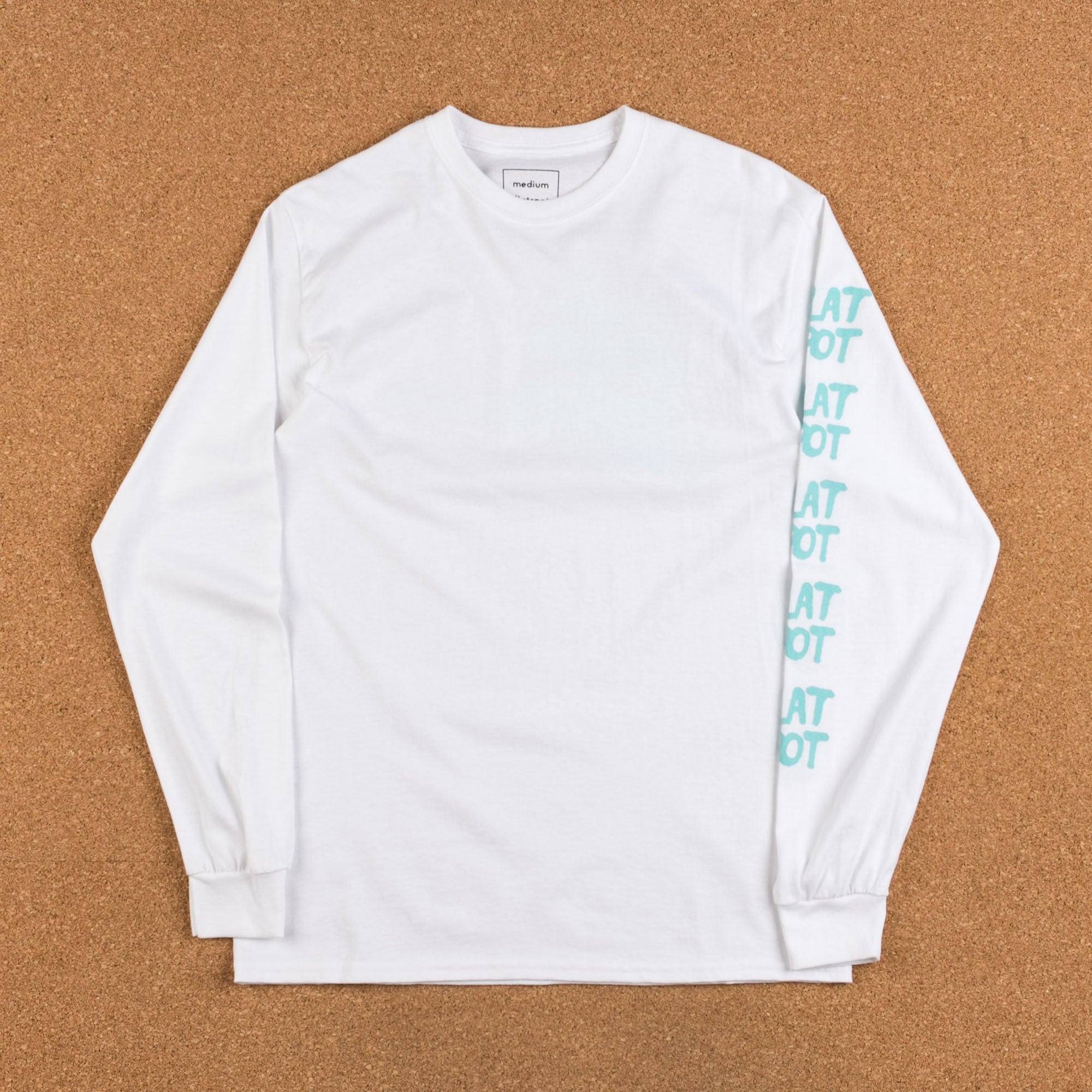 Flatspot Curbsniffer Long Sleeve T-Shirt - White / Blue