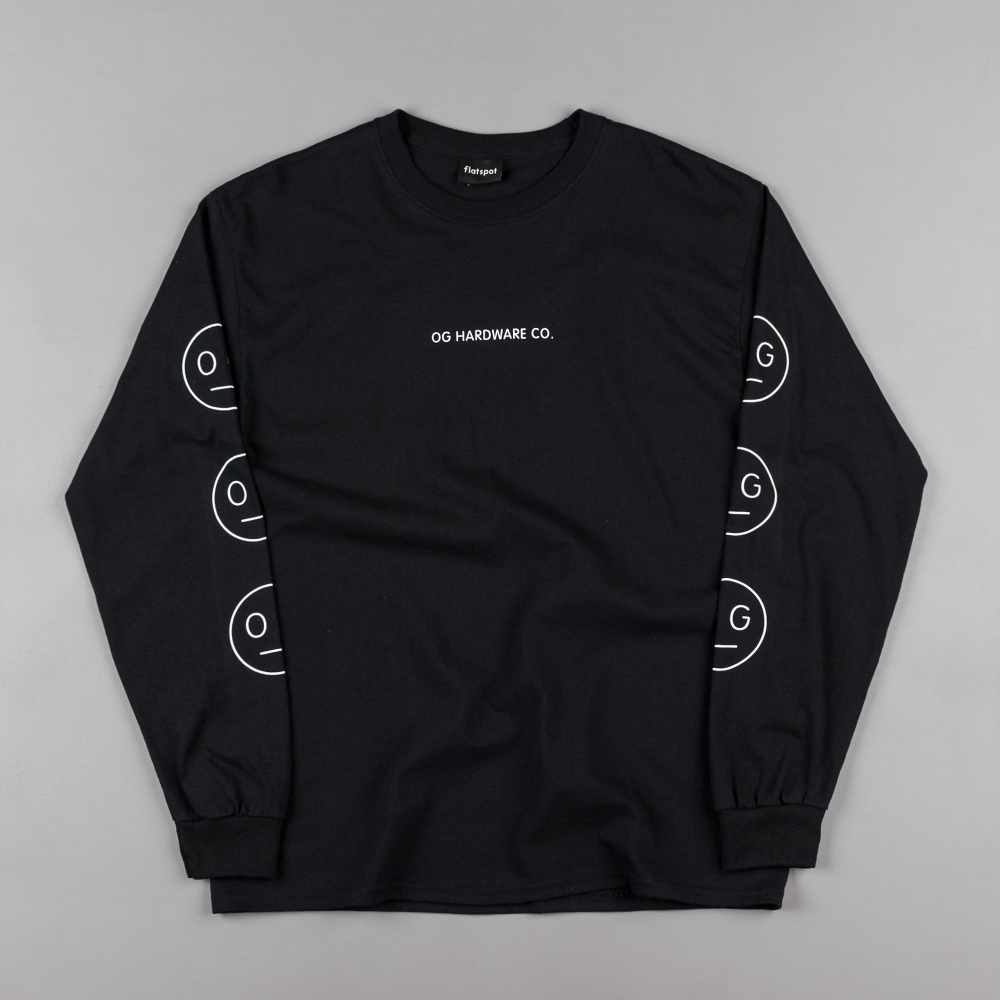 Flatspot OG Hardware Triple OG Long Sleeve T-Shirt - Black
