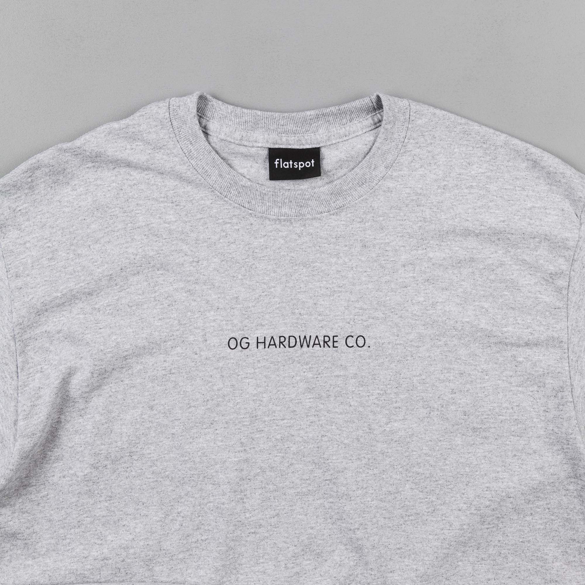 Flatspot OG Hardware Triple OG Long Sleeve T-Shirt - Heather Grey