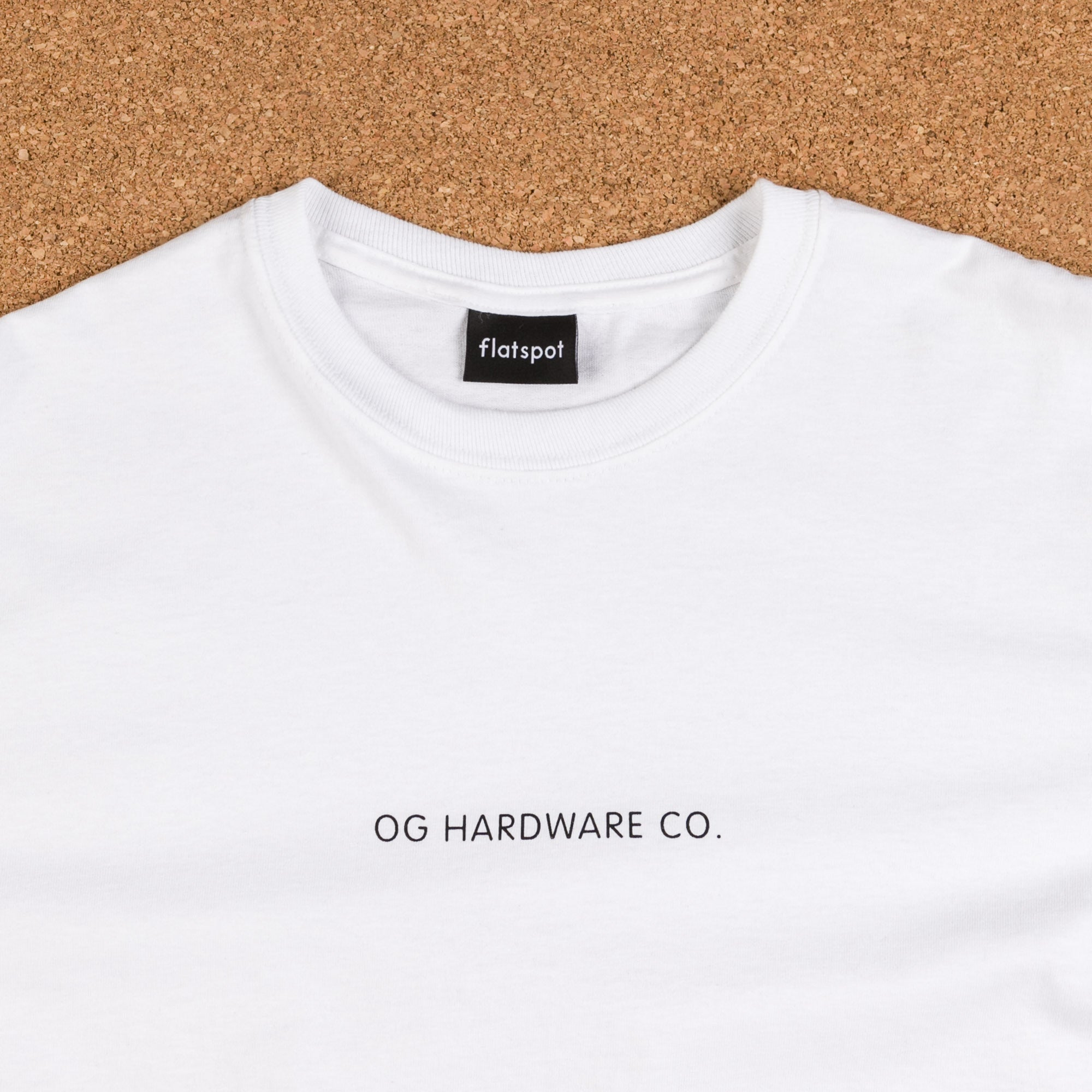 Flatspot OG Hardware Triple OG Long Sleeve T-Shirt - White