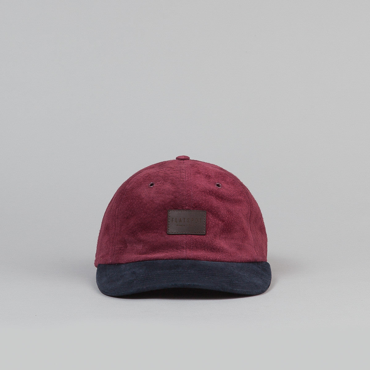 Flatspot Suede 6 Panel Cap Wine / Navy