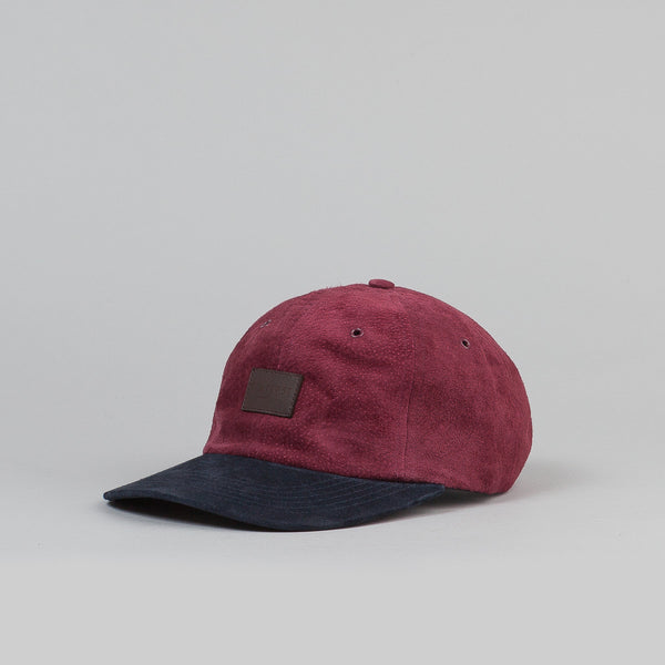 Flatspot Suede 6 Panel Cap Cap Wine / Navy
