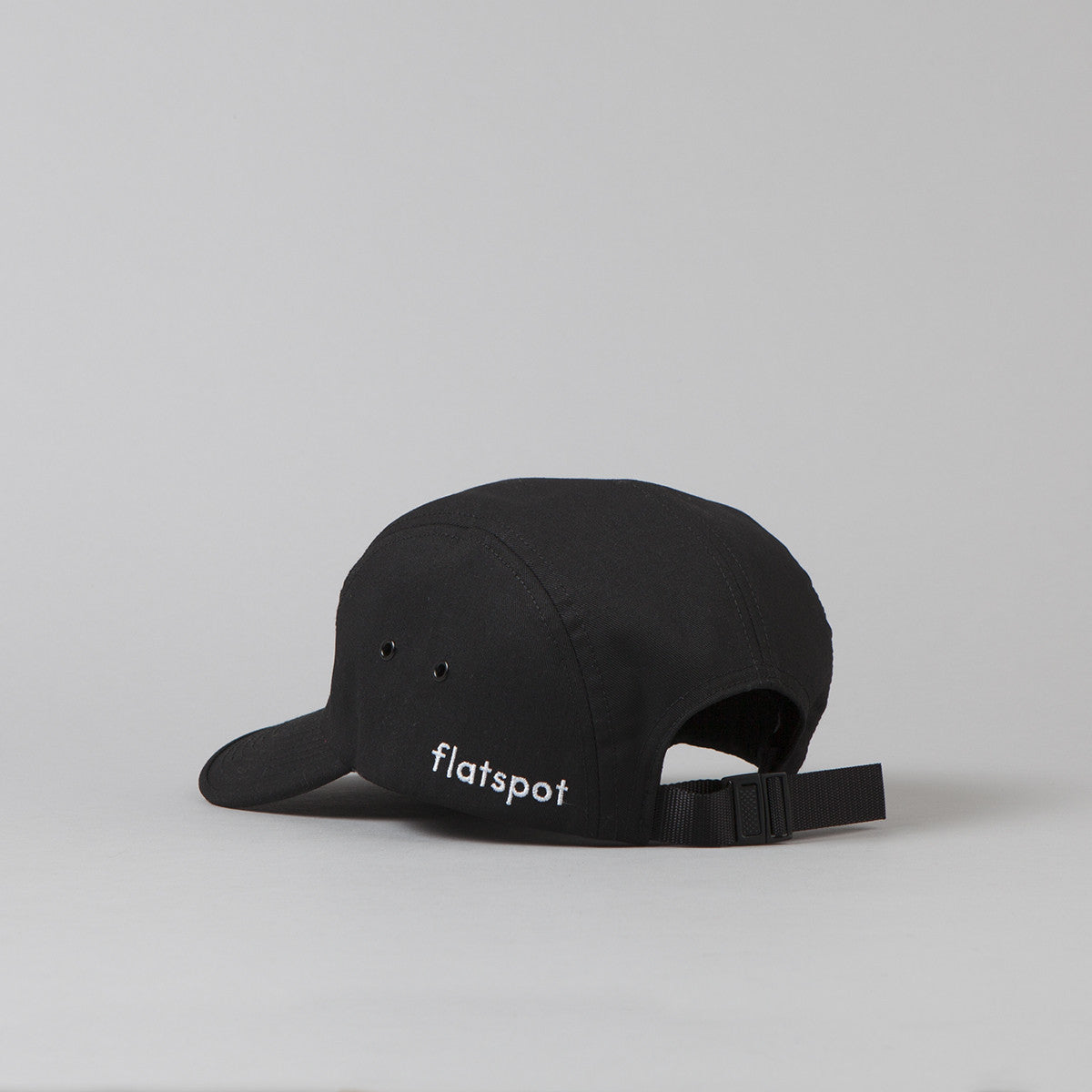 Flatspot Twill Jockey Cap - Black