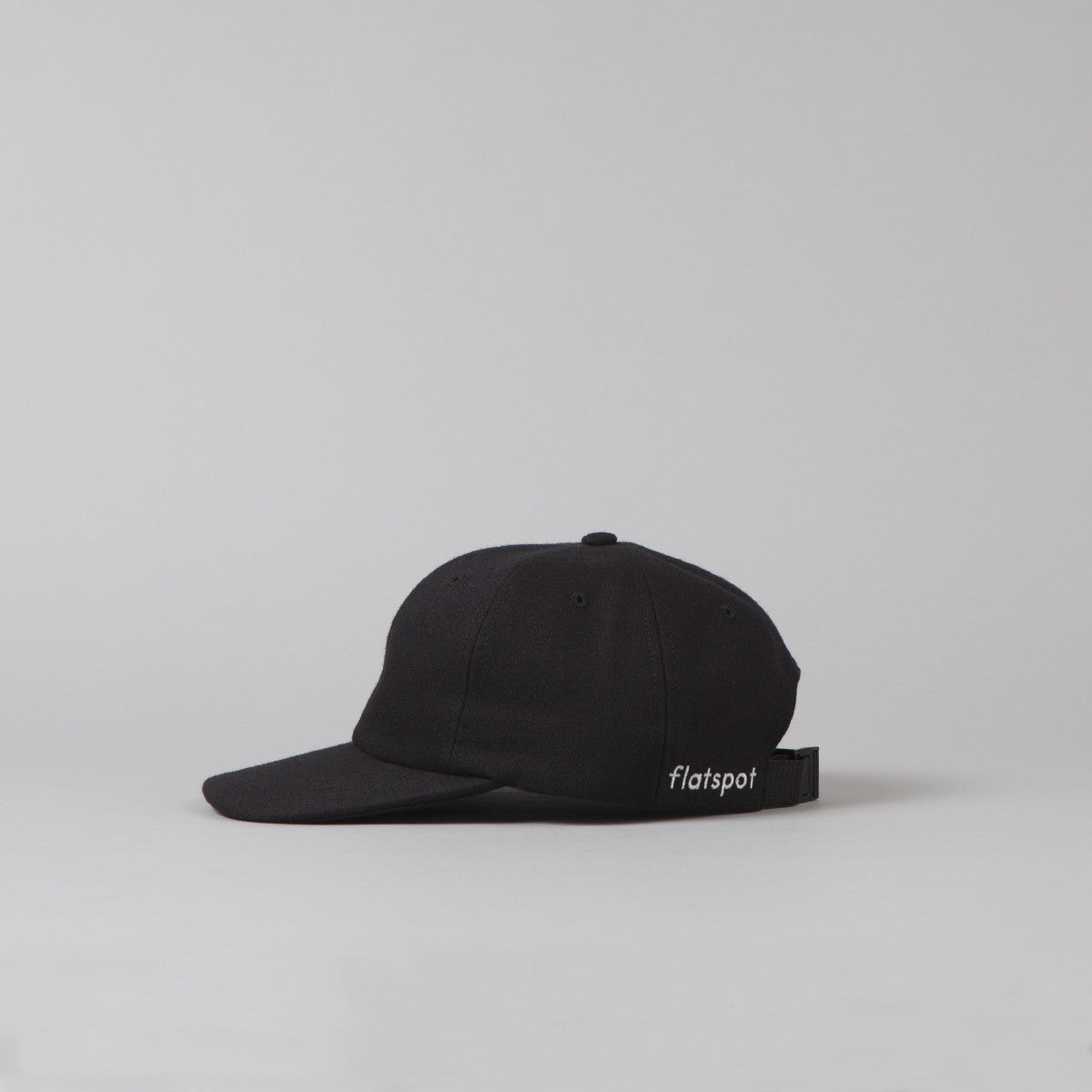 Flatspot Wool Polo Cap - Black