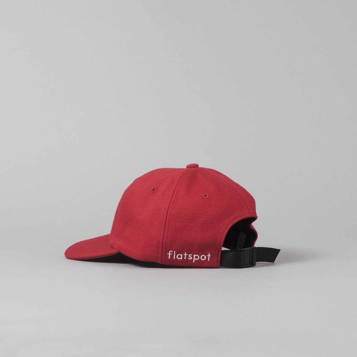 Flatspot Wool Polo Cap - Red