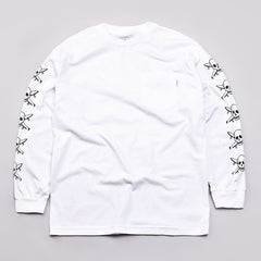 Flatspot X Fourstar L/S Pocket T Shirt White