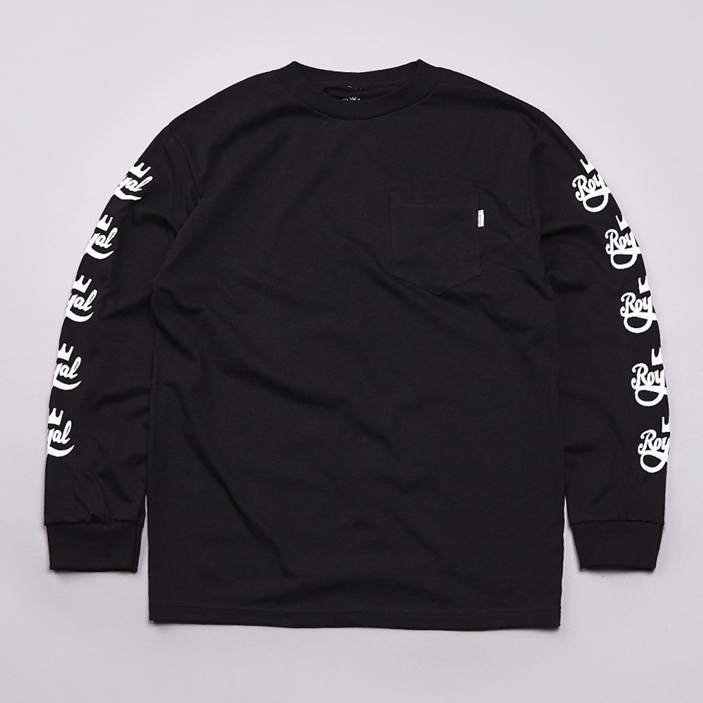 Flatspot X Royal Long Sleeve Pocket T Shirt Black