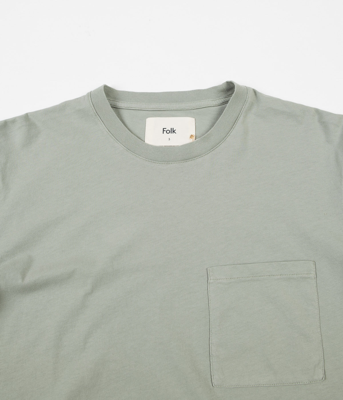Folk Pocket Assembly T-Shirt - Washed Green
