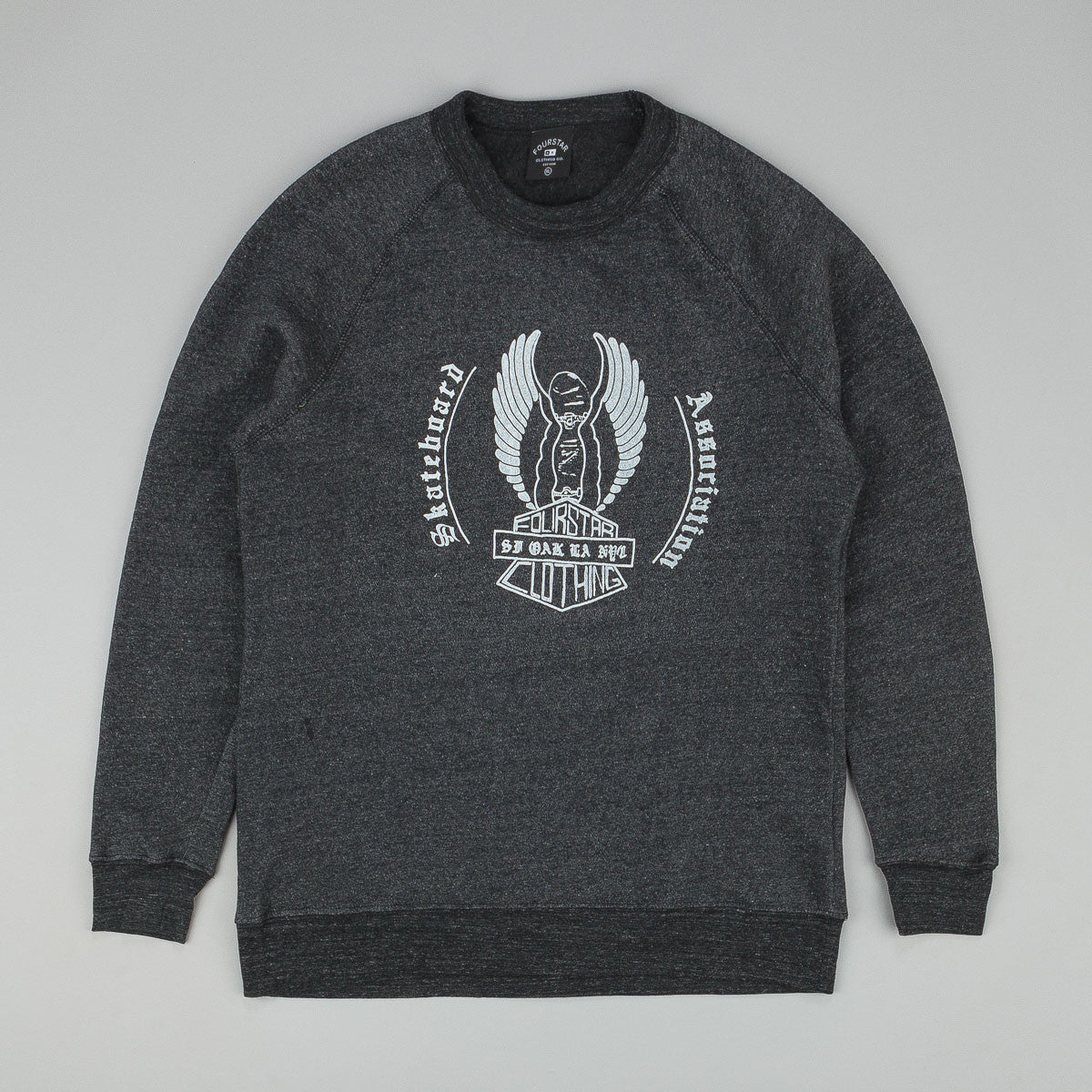 Fourstar Association Crew Sweatshirt Black Heather