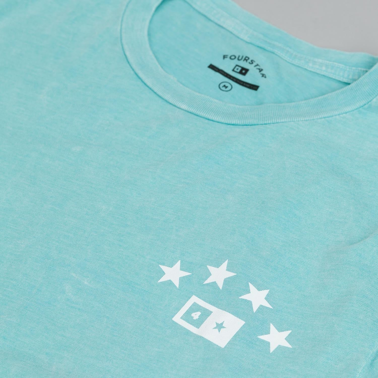 Fourstar Athletic Mineral Wash T Shirt Blue