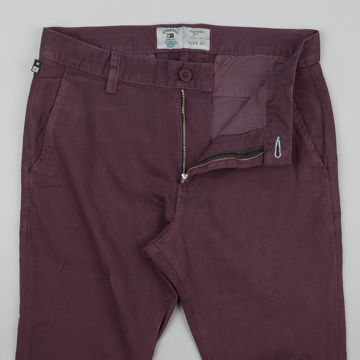 Fourstar Carroll Chino Trousers - Merlot