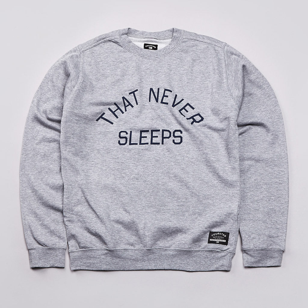 Fourstar Four Cities Crew Sweatshirt Grey