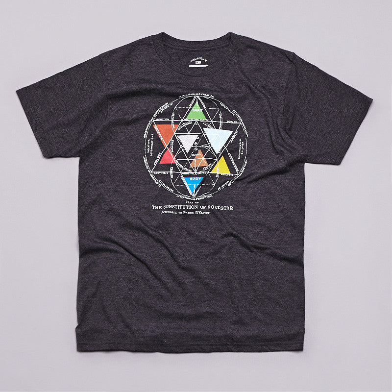 Fourstar Constitution T Shirt Black