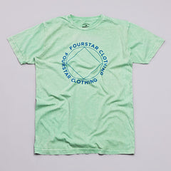 Fourstar Four Points Mineral Wash T Shirt Green
