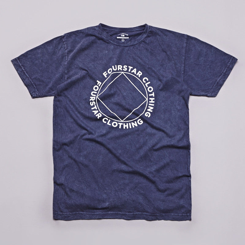 Fourstar Four Points Mineral Wash T Shirt Navy