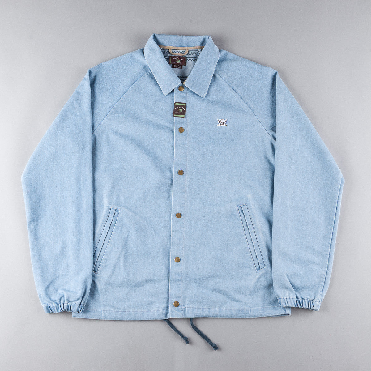 Fourstar FS116 Kennedy Denim Coach Jacket - Indigo