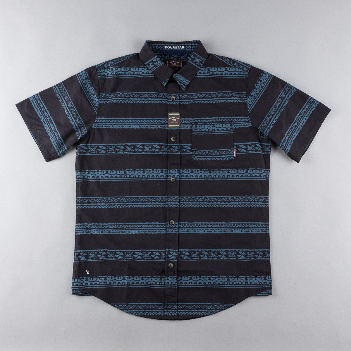 Fourstar FS116 Kennedy Short Sleeve Shirt - Navy