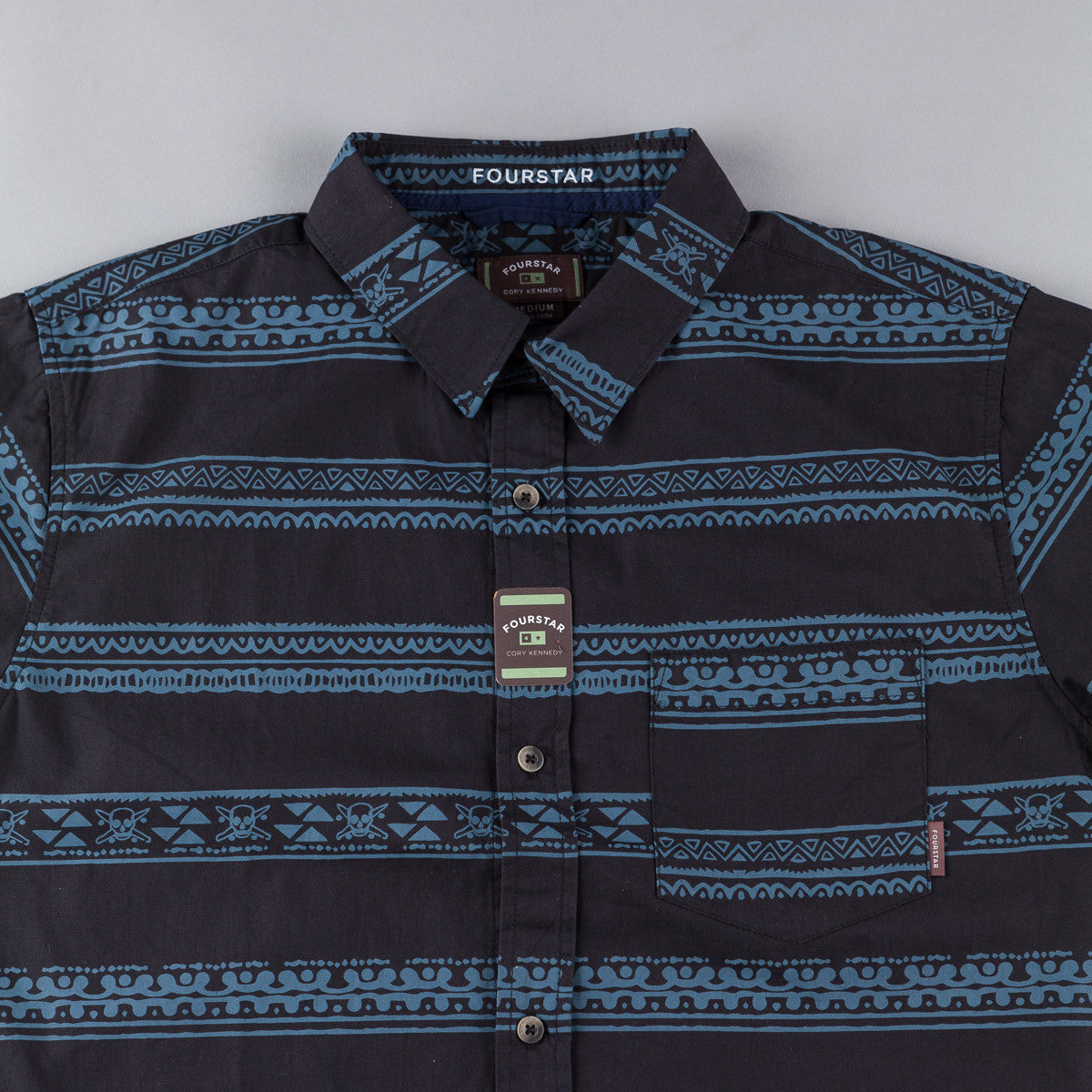 Fourstar Kennedy Short Sleeve Shirt - Navy