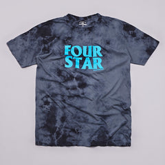 Fourstar Four Hero Lightning Wash T Shirt Black