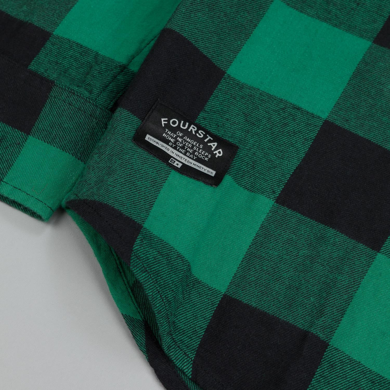 Fourstar Ishod Flannel LS Shirt Kelly Green