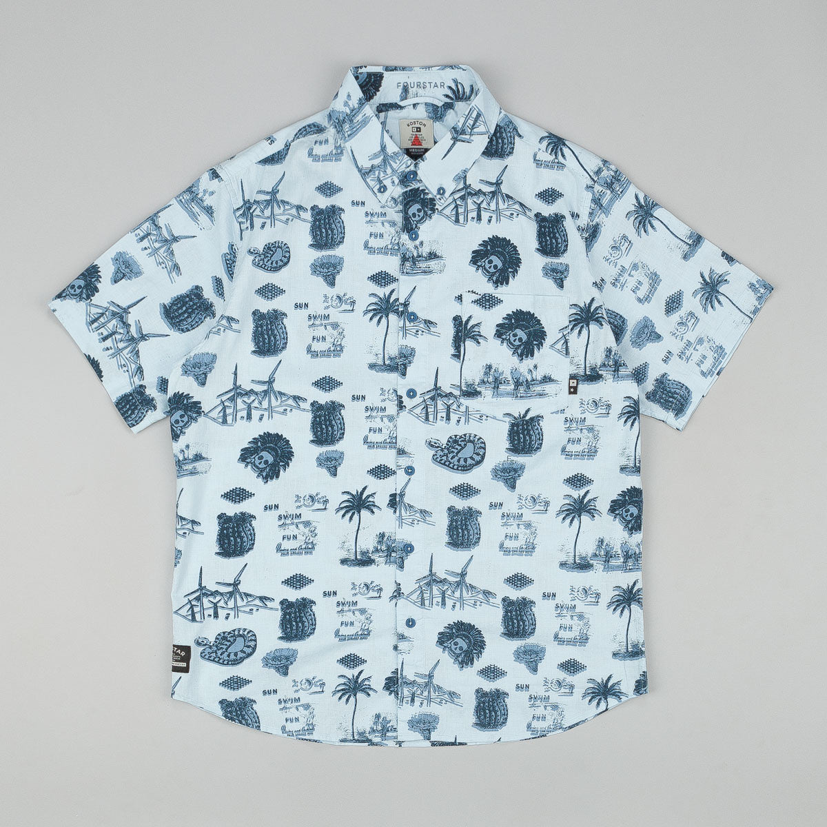 Fourstar Koston Signature SS Shirt Blue