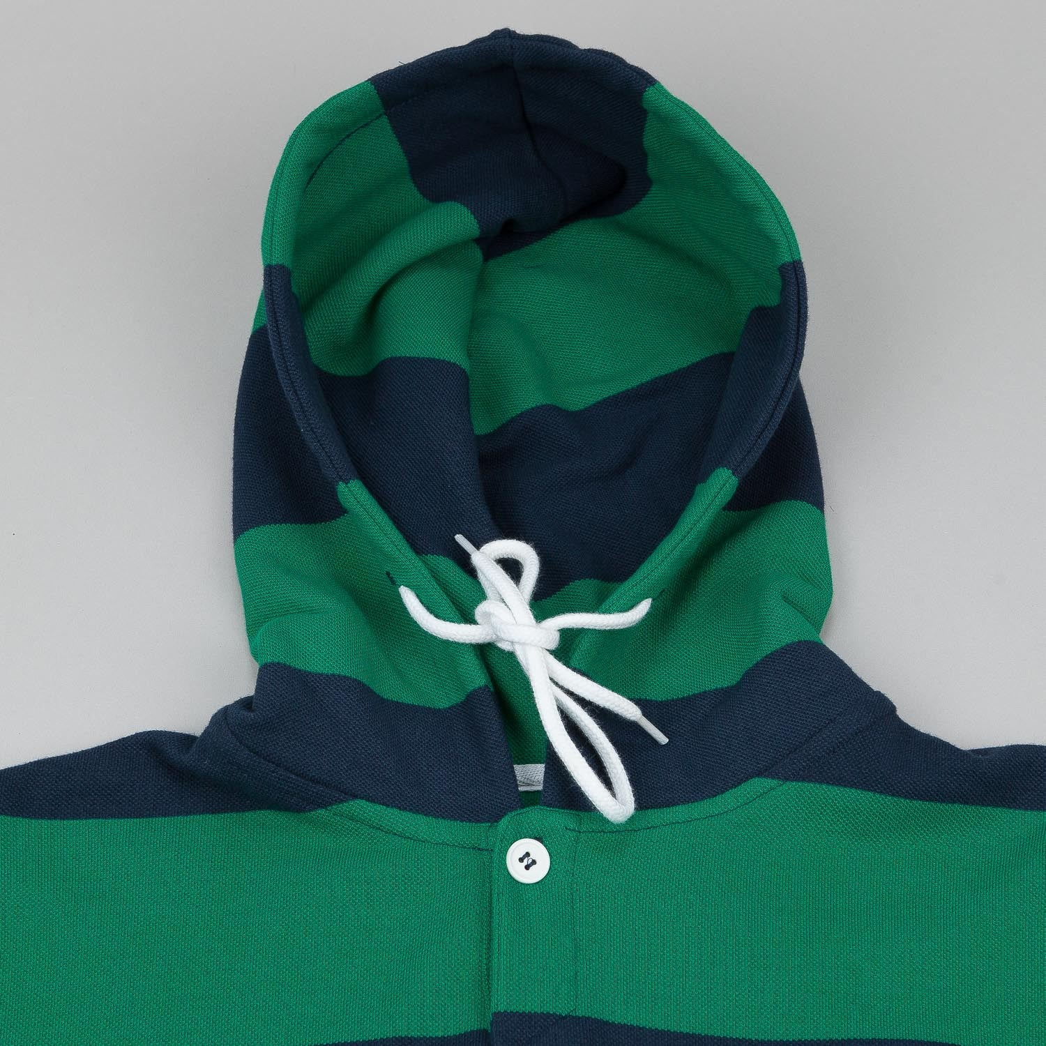 Fourstar Koston Striped Hooded Sweatshirt - Kelly Green / Navy