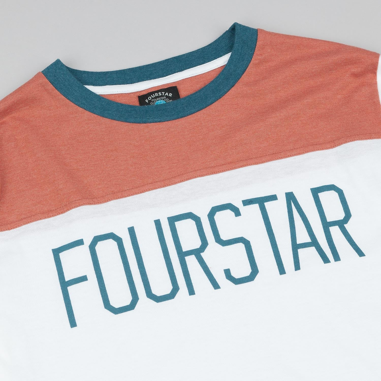 Fourstar League Football 3/4 Sleeve T-Shirt - White