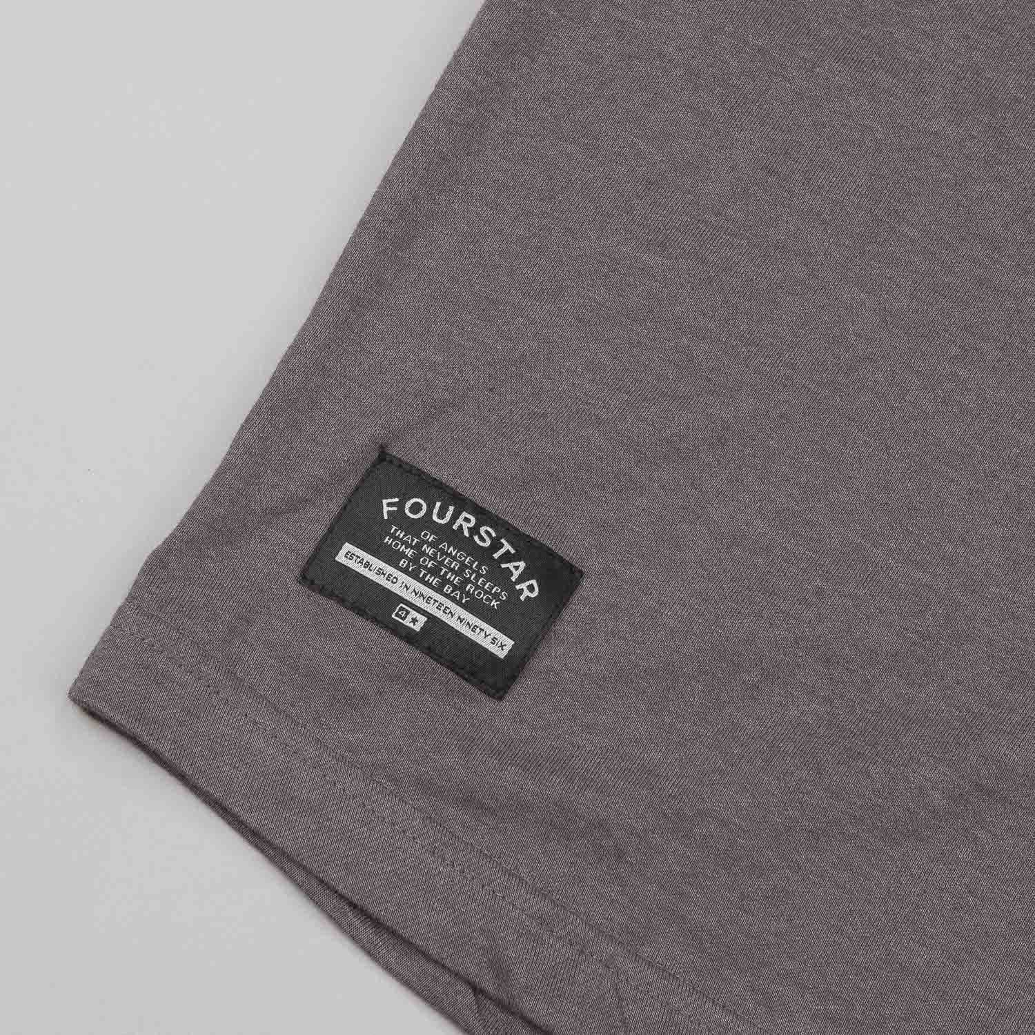 Fourstar Leavenworth 3/4 Sleeve Pocket T-Shirt - Grey / Navy