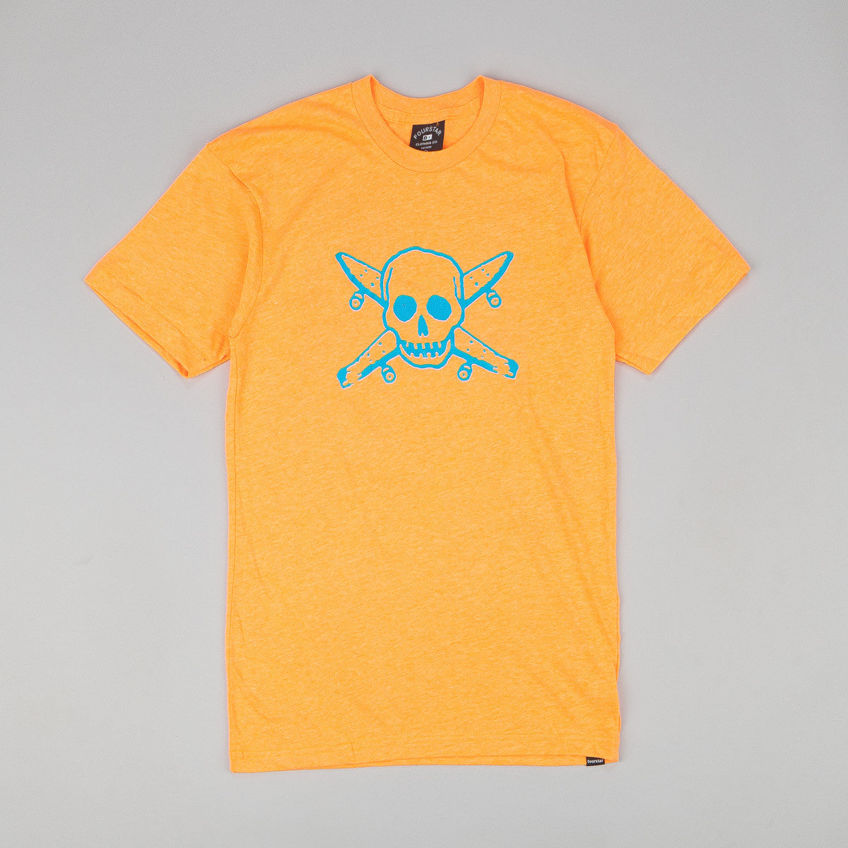 Fourstar Neon Pirate T Shirt - Orange
