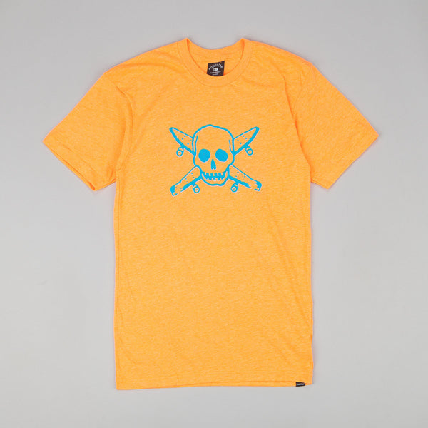 Fourstar Neon Pirate T Shirt Orange