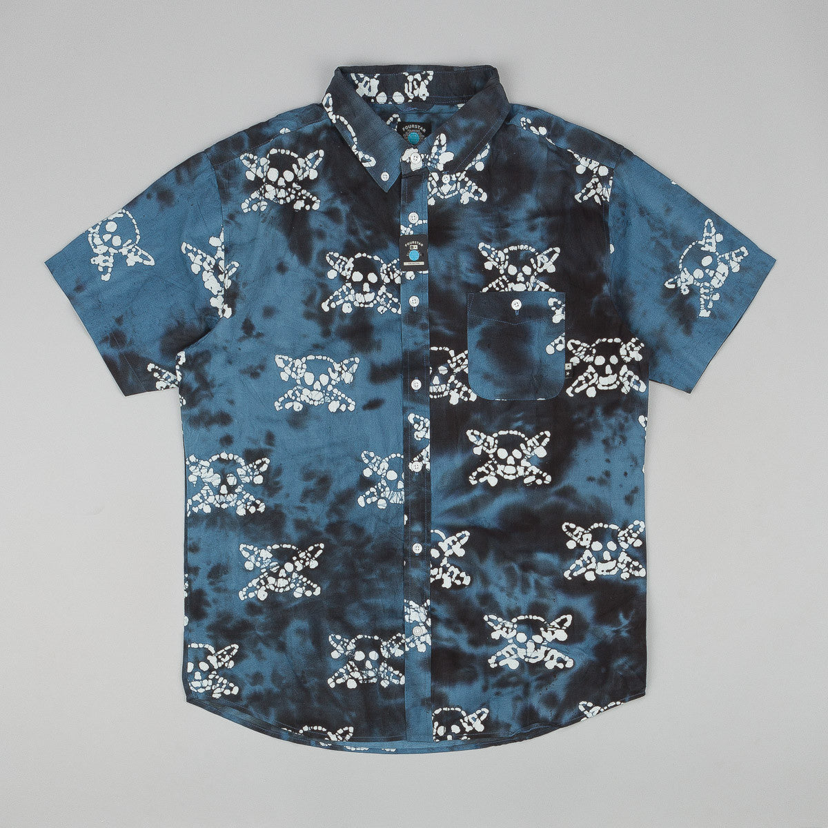Fourstar Pirate Batik Shirt Indigo