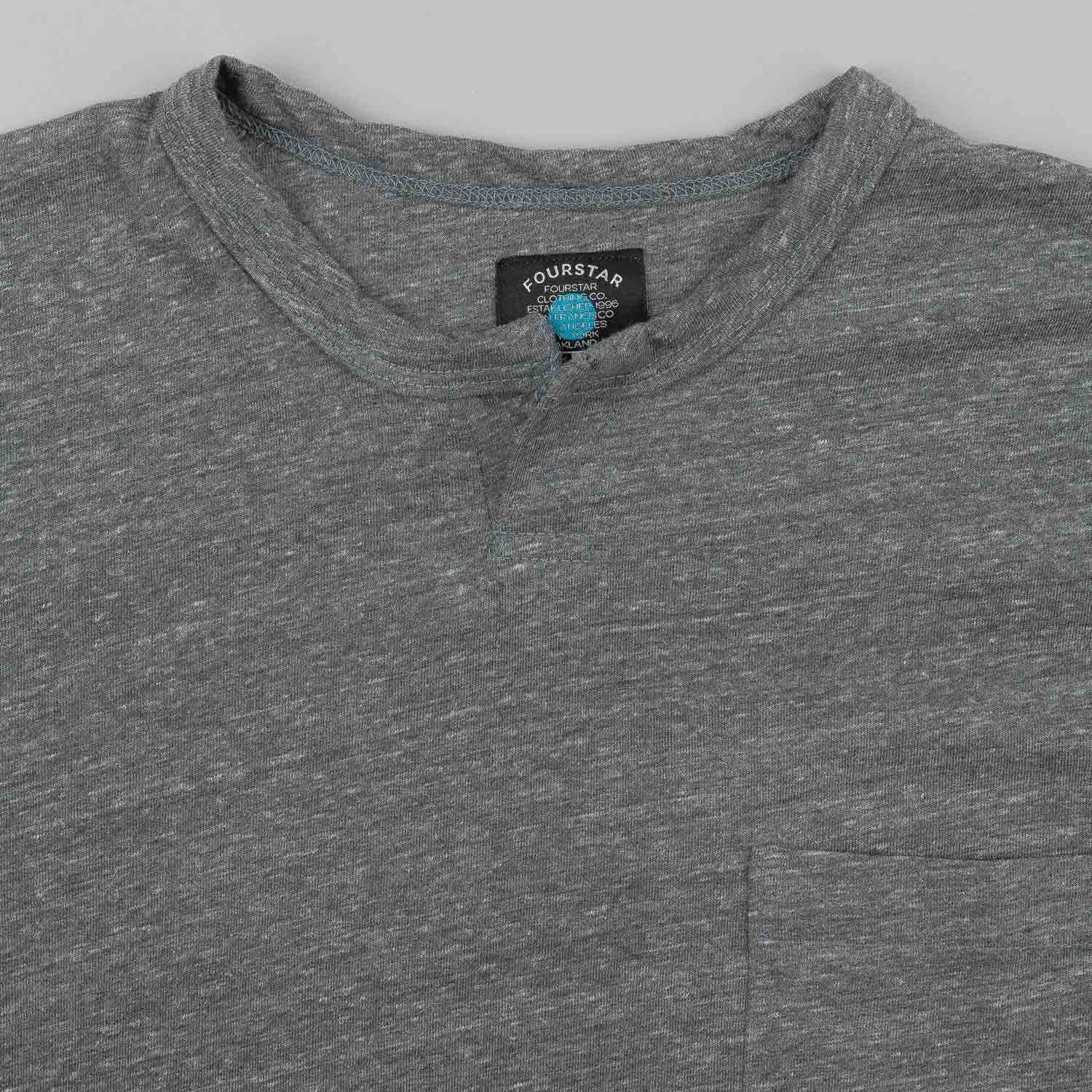 Fourstar Pirate Crew Pocket T-Shirt - Gunmetal Heather