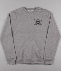 Fourstar Street Pirate Crewneck Sweatshirt - Gunmetal Heather