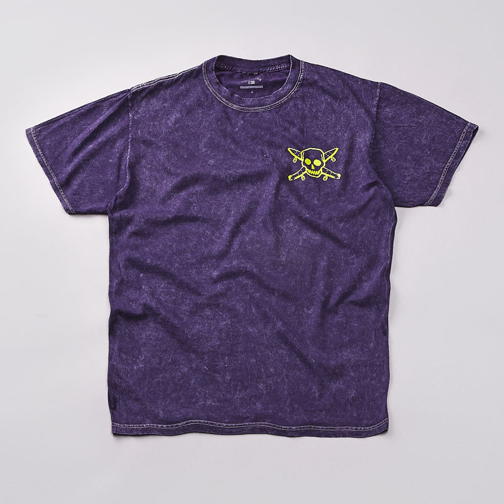 Fourstar Pirate Mineral Wash T Shirt Purple