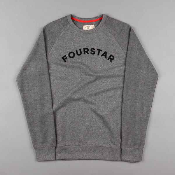 Fourstar Reverse Raglan Crewneck Sweatshirt - Grey Heather