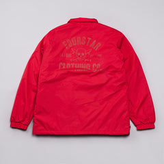 Fourstar Sherpa Coach Jacket Red