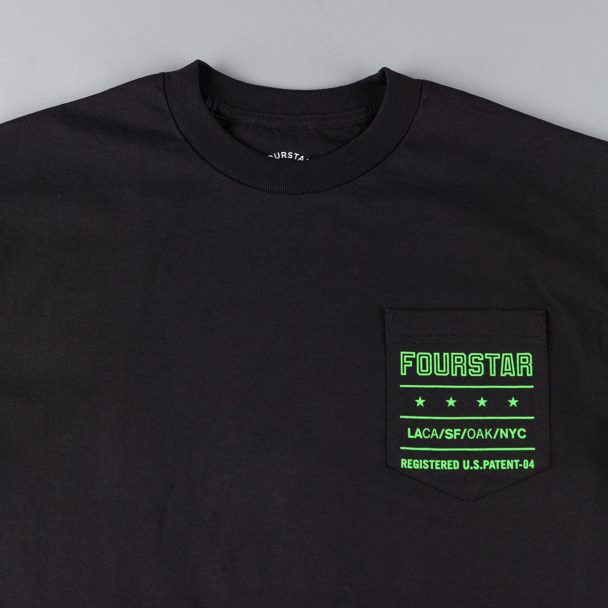 Fourstar Type Pocket T-Shirt - Black