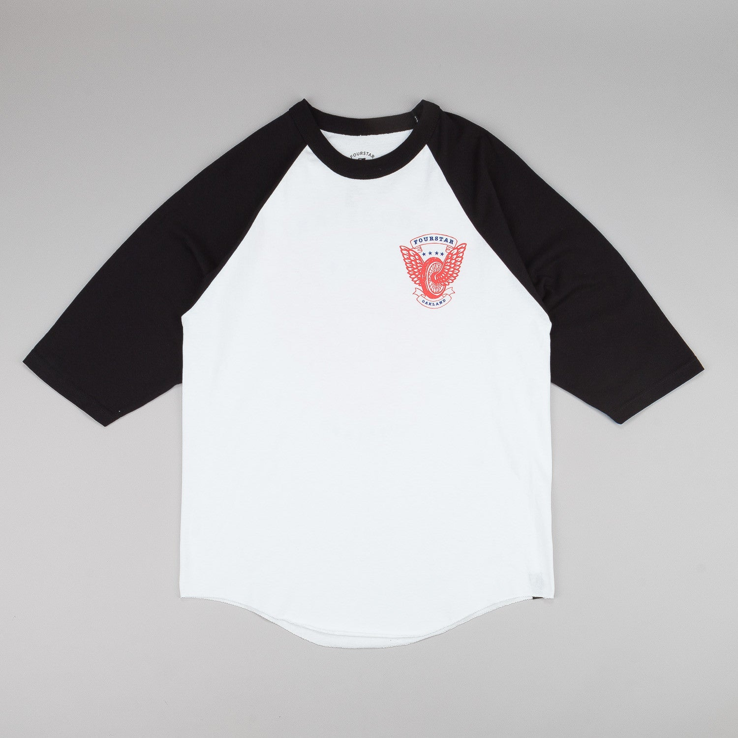 Fourstar Winged Wheel 3/4 Sleeve Raglan T-Shirt