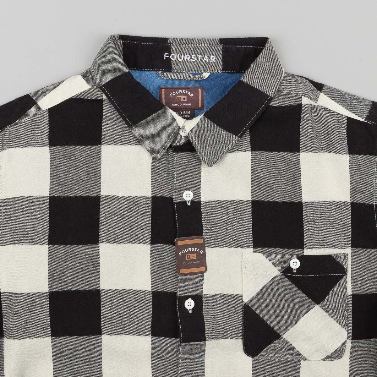 Fourstar X Ishod Wair Buffalo Long Sleeve Shirt - Ecru