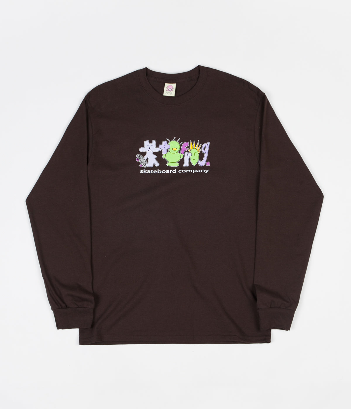 Frog SK8R Punk Logo Long Sleeve T-Shirt - Brown