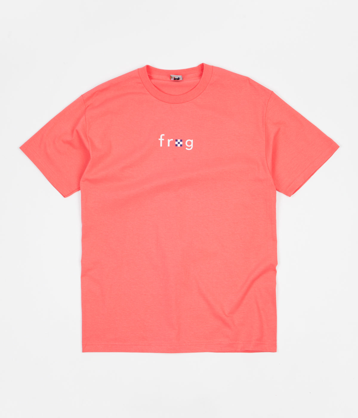 Frog Skateboards Please Don't Quit T-Shirt - Coral