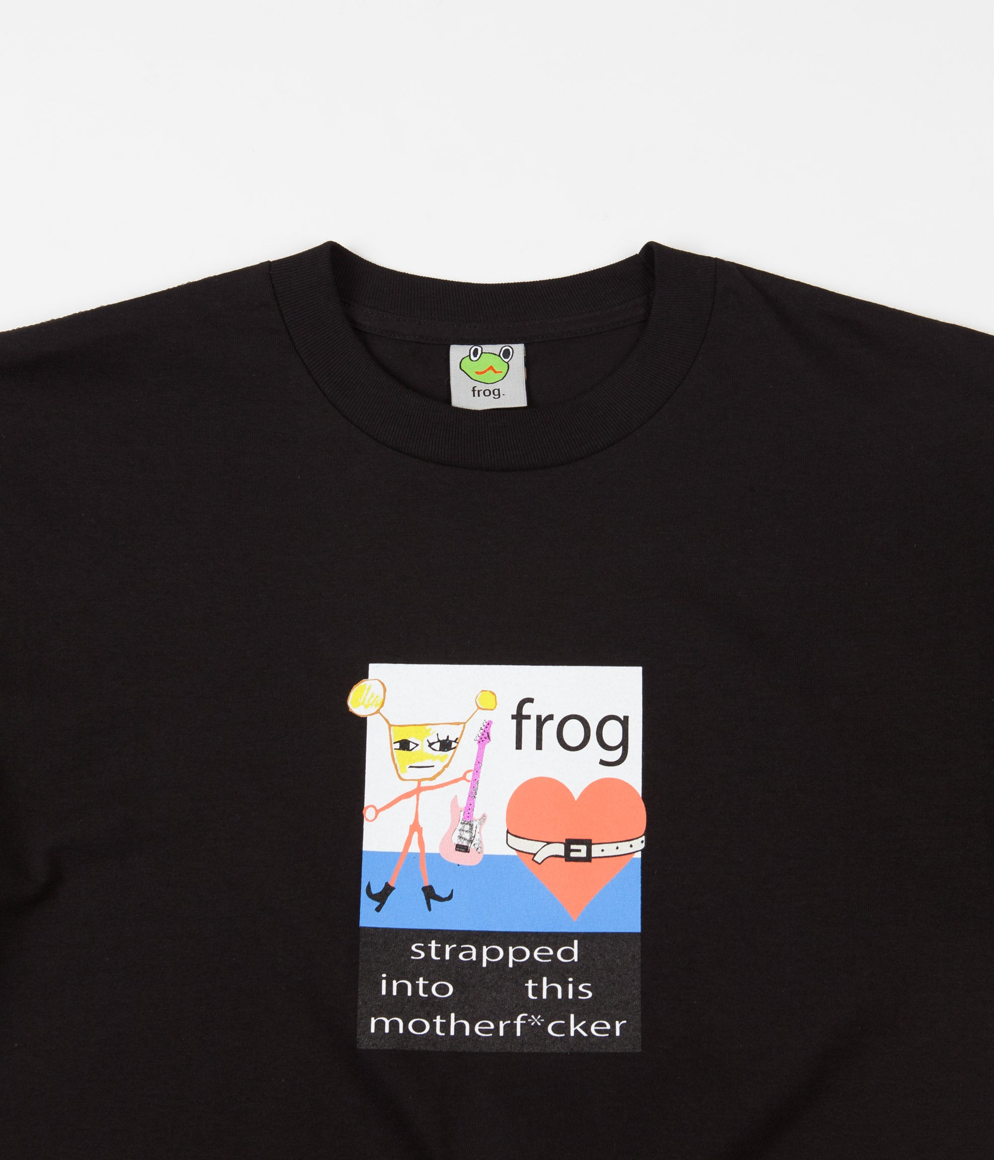Frog Strapped In T-Shirt - Black