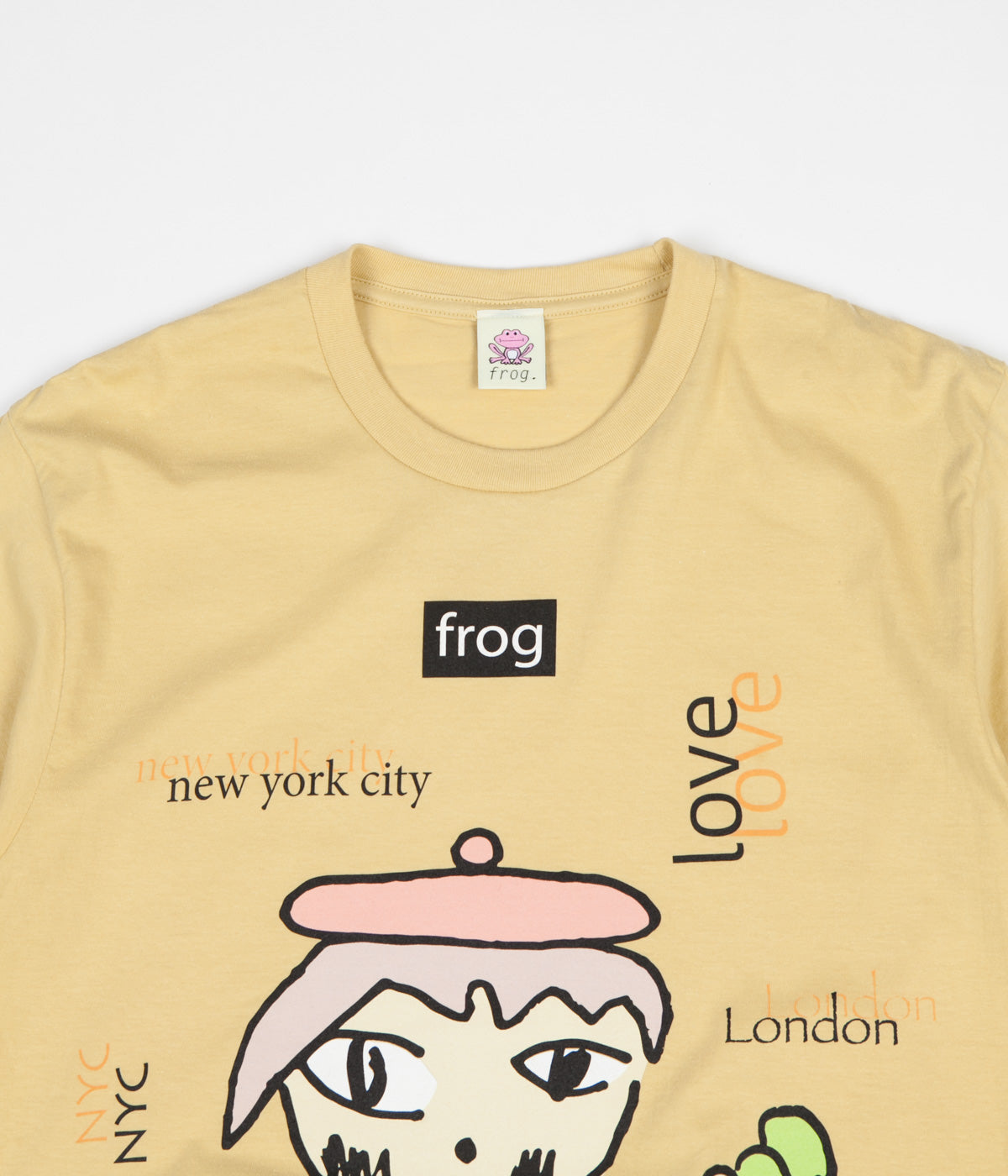 Frog World Wide Love T-Shirt - Yellow