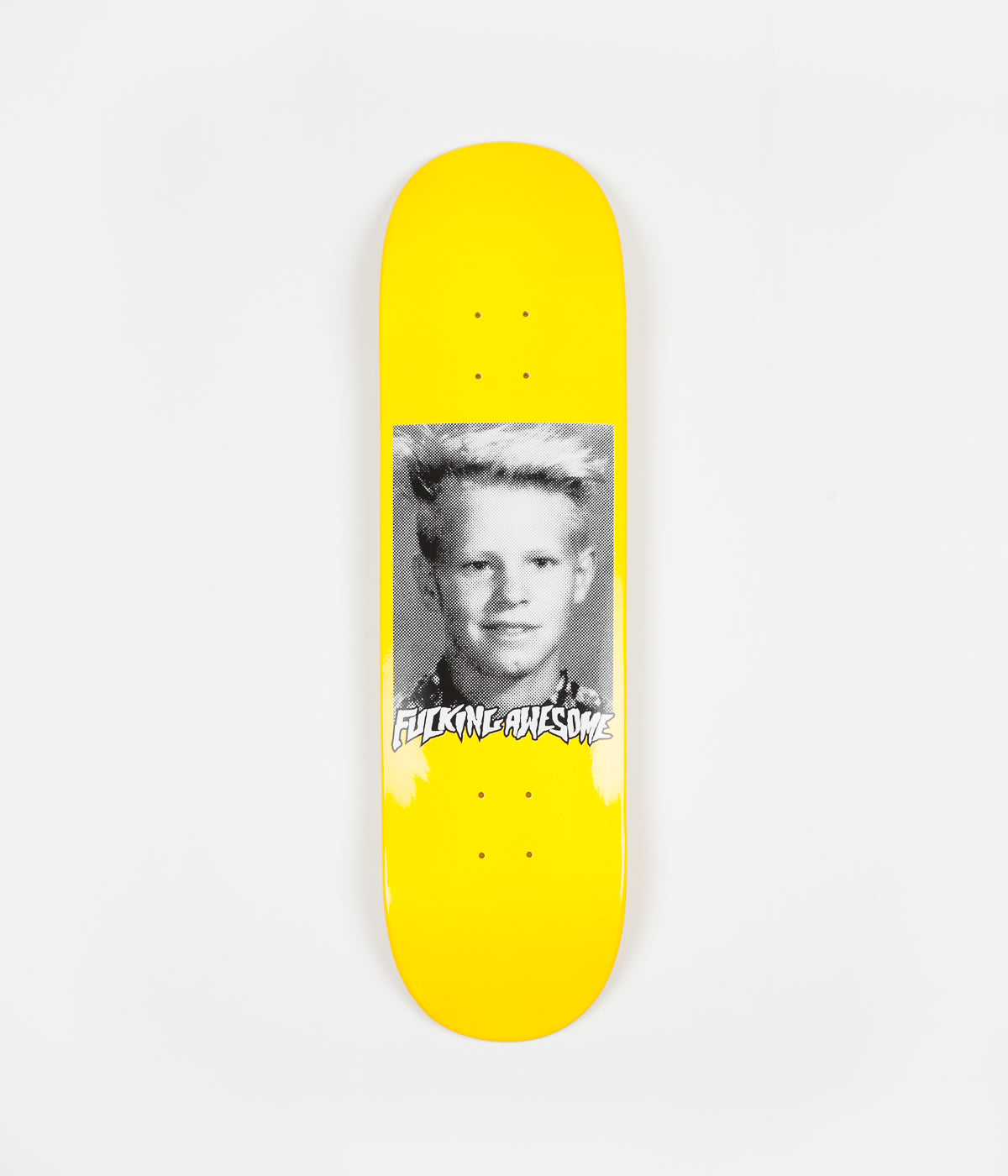 Fucking Awesome AVE Class Photo Dipped Deck - Yellow - 8.38""